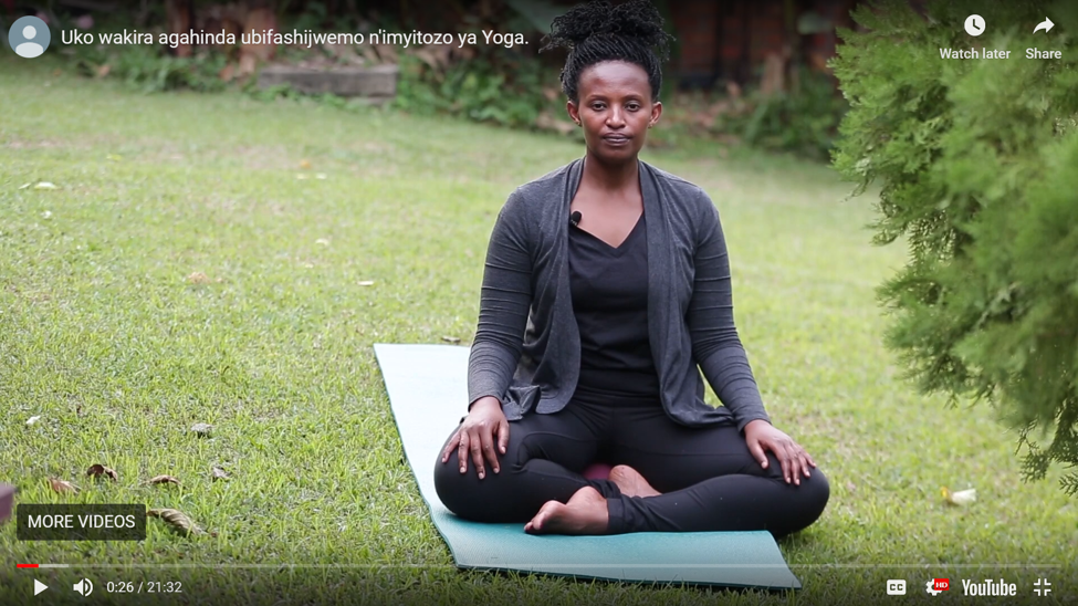 A video with Aline on how to handle anxiety using yoga