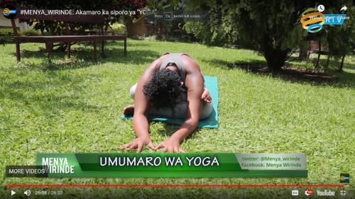 "#MENYA_WIRINDE: Akamaro ka siporo ya ""YOGA"""